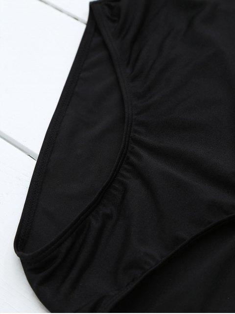unique If Lost Letter Swimwear - BLACK XL Mobile