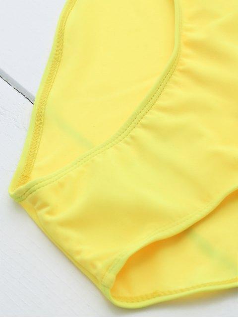 fashion Drunk Spice Swimwear - YELLOW L Mobile