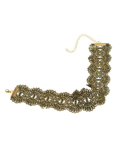 latest Medallion Wide Choker - GOLDEN  Mobile