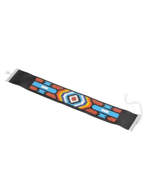 chic Mosaic Geometric Choker - BLACK  Mobile
