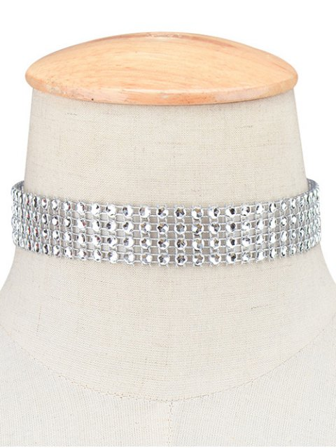 women's Four Layered Plastic Choker - SILVER  Mobile