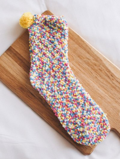 Coral Fleece Chuzzle Heathered Socks - COLORFUL  Mobile