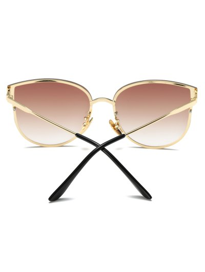 Full Rims Butterfly Sunglasses - TEA-COLORED  Mobile
