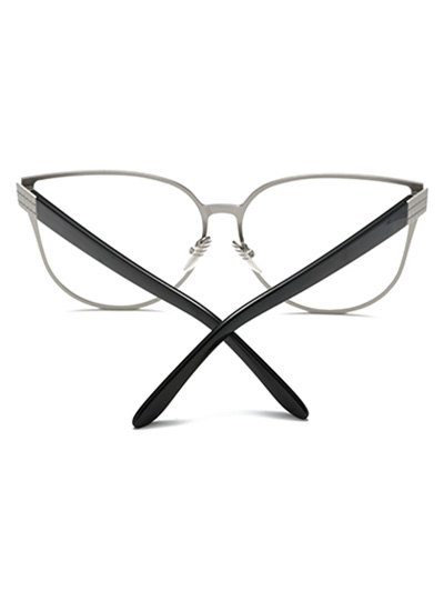 Oversized Butterfly Sunglasses - SILVER  Mobile
