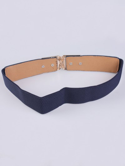 Faux Opal Elastic Waist Belt - DEEP BLUE  Mobile