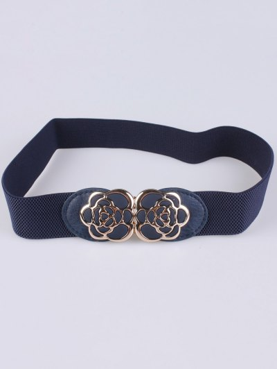 Rose Carve Elastic Waist Belt - CADETBLUE  Mobile