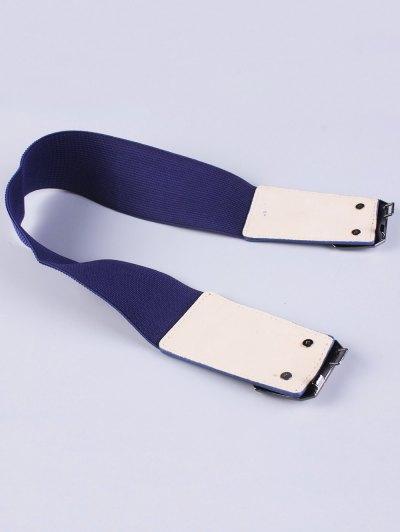 Smooth Alloy Buckle Elastic Waist Belt - BLUE  Mobile