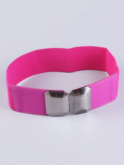 Smooth Alloy Buckle Elastic Waist Belt - TUTTI FRUTTI  Mobile
