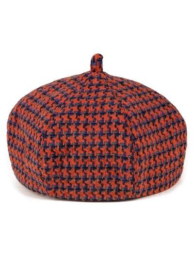 Crochet Windmill Painter Beret - ORANGE  Mobile
