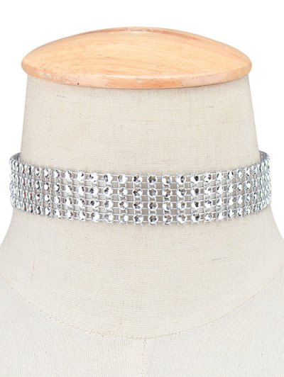 Four Layered Plastic Choker - SILVER  Mobile