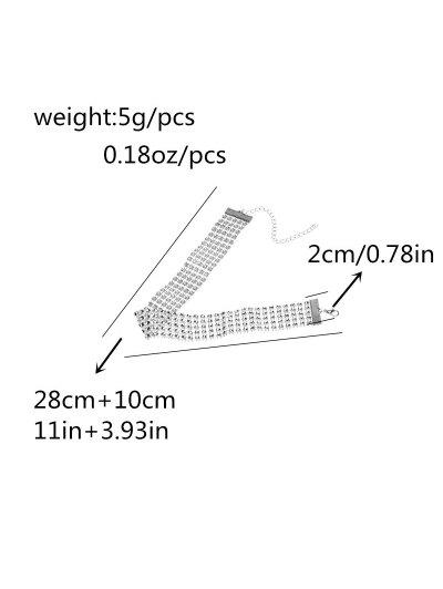 Multi Layered Plastic Choker - SILVER  Mobile