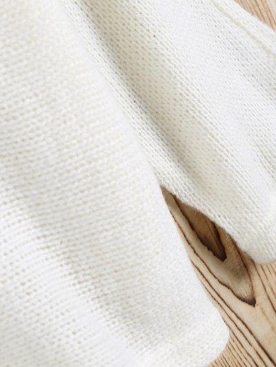 Slash Neck Pullover Sweater - WHITE XL Mobile