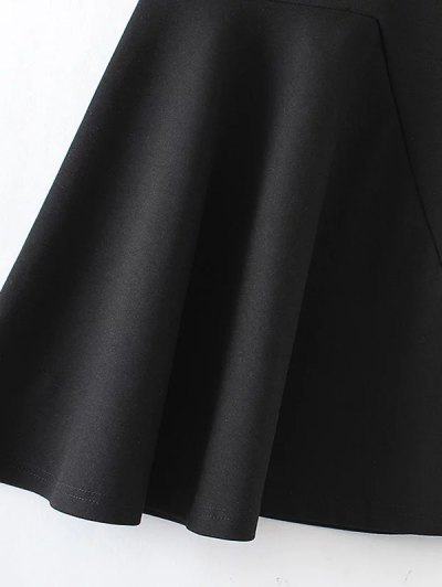 Asymmetric Trumpet Skirt - BLACK S Mobile