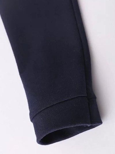 Floral Embroidered Raglan Sleeve Sweatshirt - BLACK M Mobile