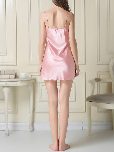 Silky Slip Dress and Robe - PINK M Mobile