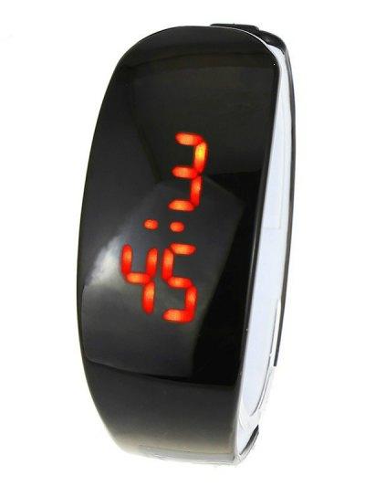 Plastic LED Digital Watch - BLACK  Mobile