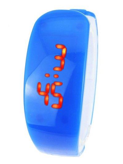 Plastic LED Digital Watch - BLUE  Mobile