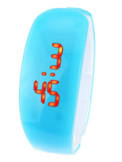 Plastic LED Digital Watch - AZURE  Mobile