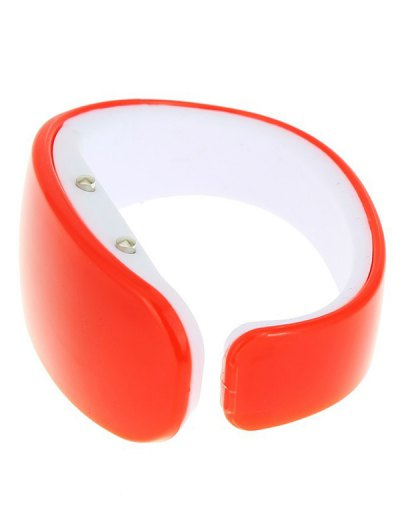 Plastic LED Digital Watch - RED  Mobile
