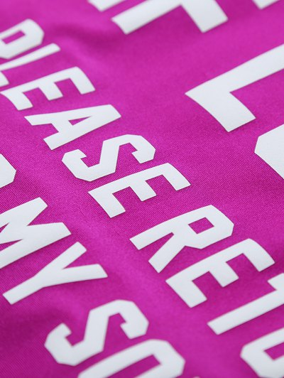 If Lost Letter Swimwear - PURPLISH RED L Mobile