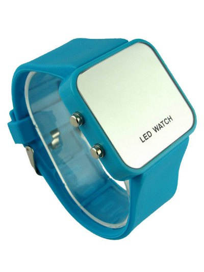 LED Silicone Digital Watch - AZURE  Mobile