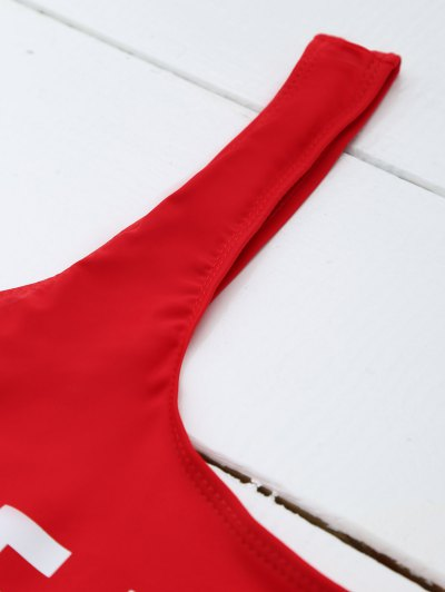 If Lost Letter Swimwear - RED S Mobile