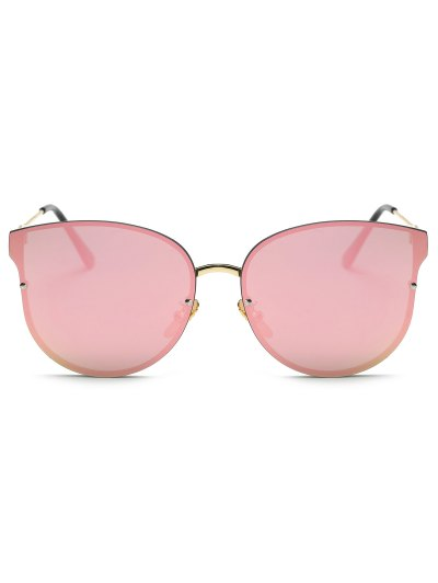 Full Rims Butterfly Mirrored Sunglasses - PINK  Mobile