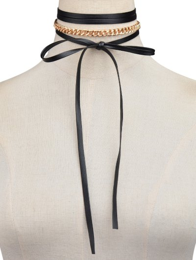 Bowknot Chain Necklace - GOLDEN  Mobile