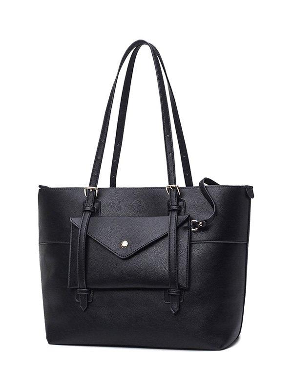 Buckle Strap Handbag Set