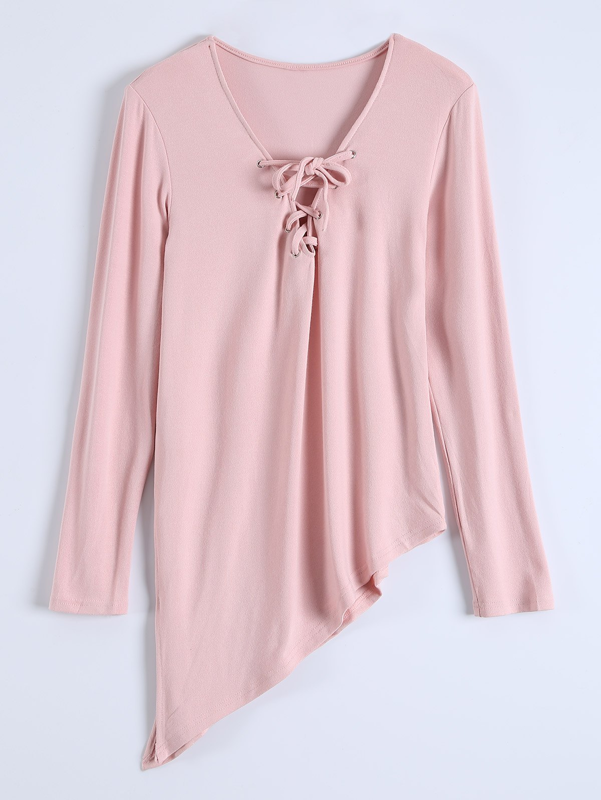 Long Sleeves Asymmetric Hem Tee