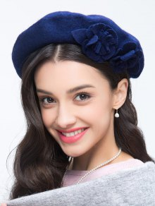 Flower French Painter Beret - Royal
