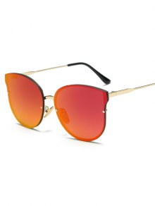 Full Rims Butterfly Mirrored Sunglasses