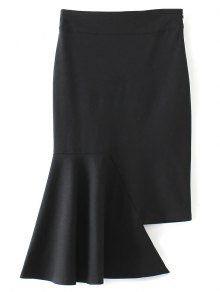 Asymmetric Trumpet Skirt