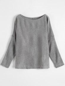 Slash Neck Pullover Sweater