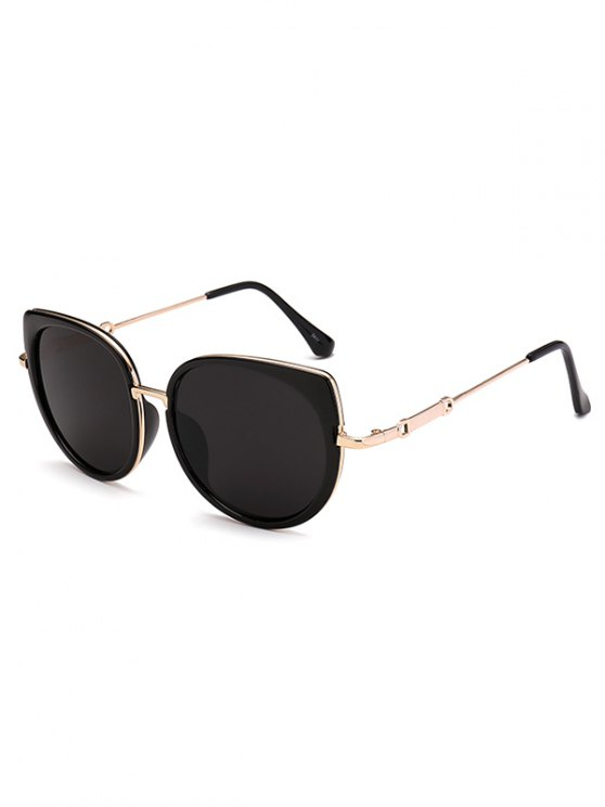 chic Full Rims Cat Eye Sunglasses - BLACK