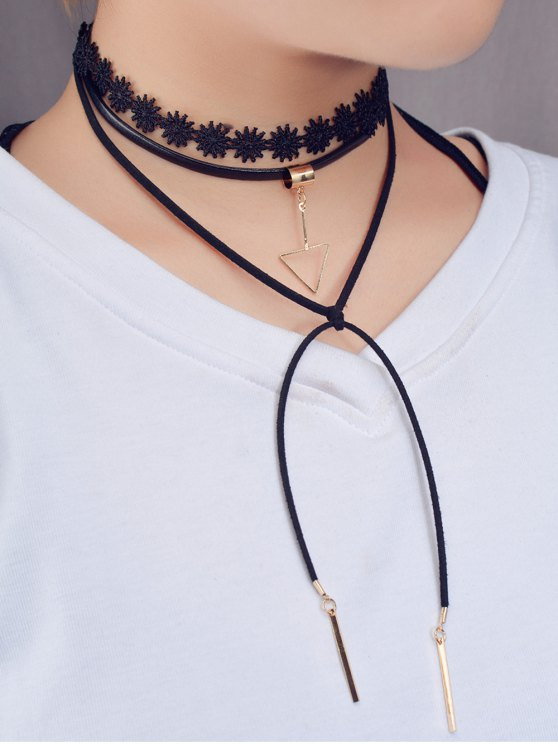Triangle Bar Tie Choker - BLACK  Mobile