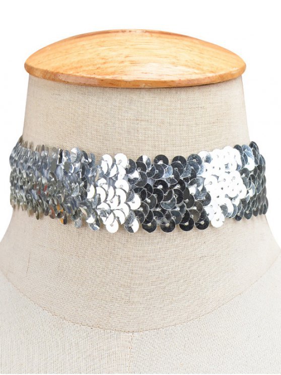 Sequin Wide Choker -   Mobile