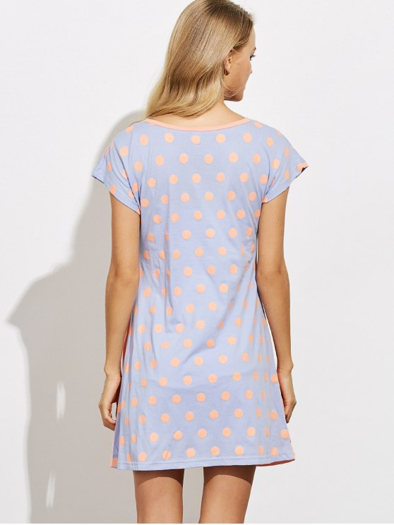 Cartoon Pattern Lounge Tee Dress - ORANGE L Mobile