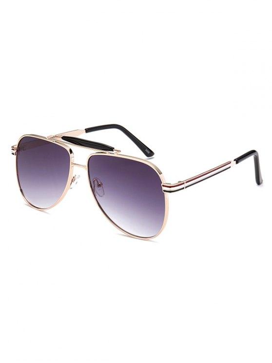 Pencil Leg Crossbar Pilot Sunglasses -   Mobile