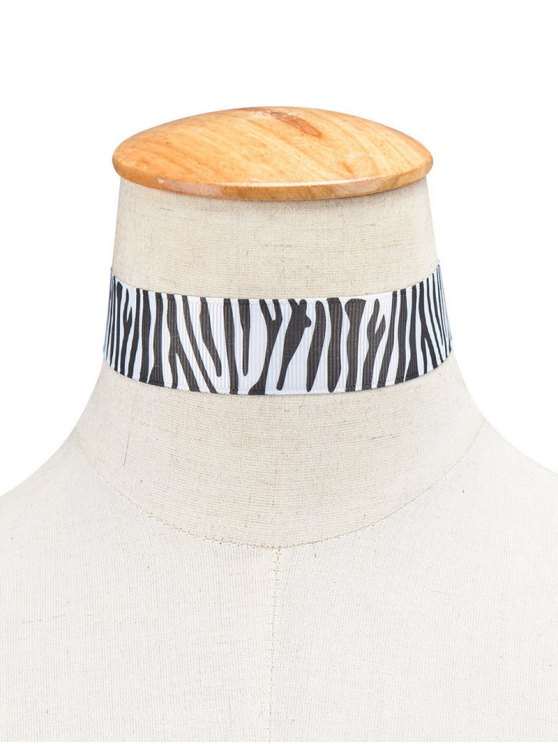 Zebra Stripe Cloth Choker -   Mobile