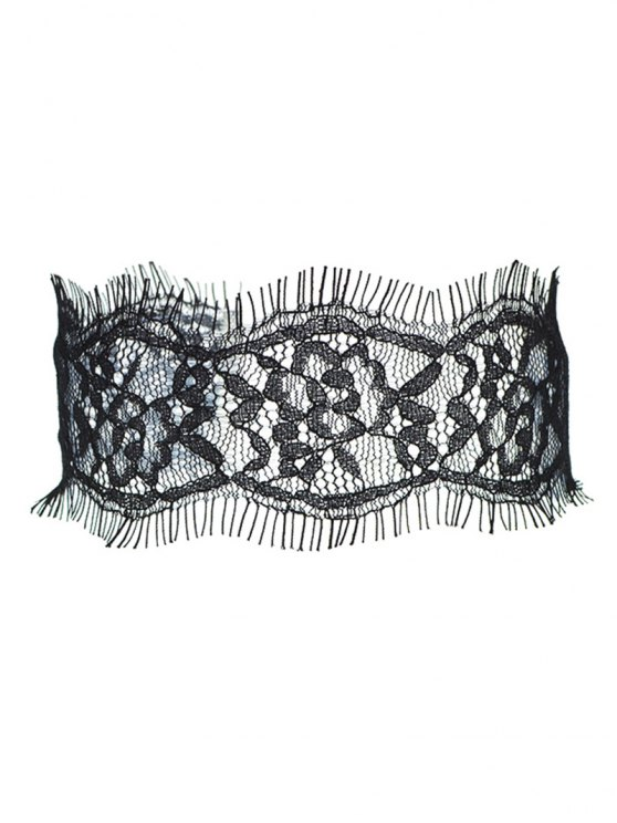 Eyelash Lace Choker - BLACK  Mobile