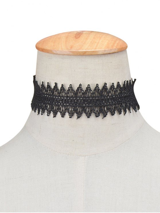 Hollowed Lace Choker -   Mobile