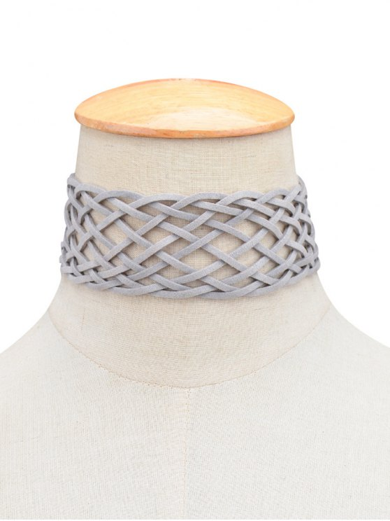 Braided Grid Choker - GRAY  Mobile