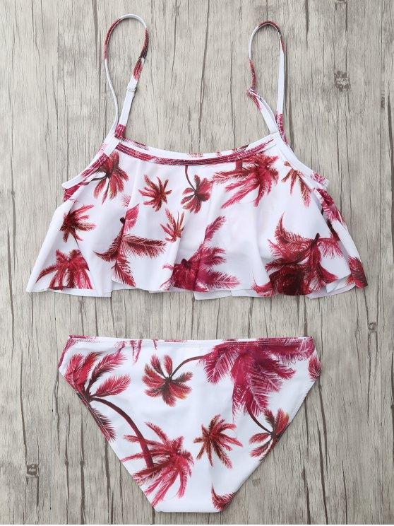 Coconut Palm Spaghetti Straps Bikini - FLORAL L Mobile