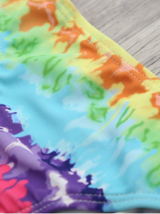 Padded Tie Dyed Wrap Bikini - COLORMIX M Mobile