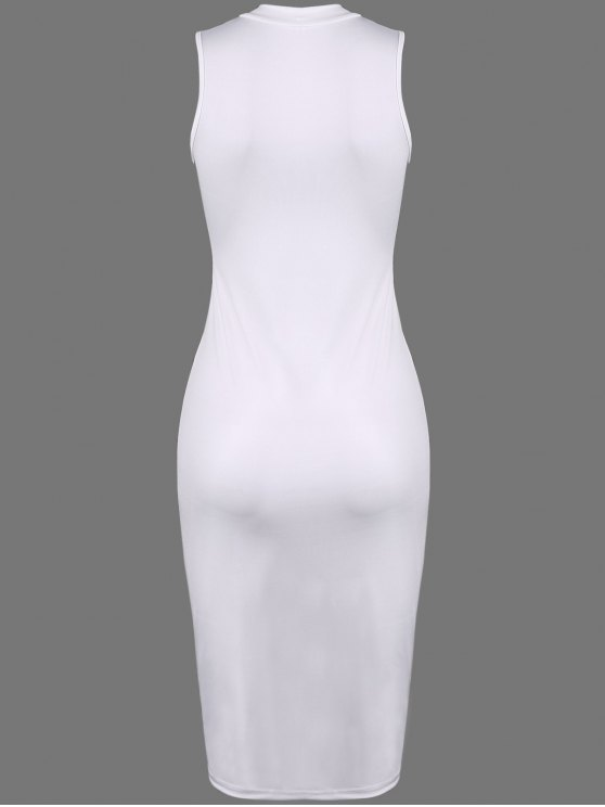 Christmas Santa Clause Midi Bodycon Dress - WHITE XL Mobile