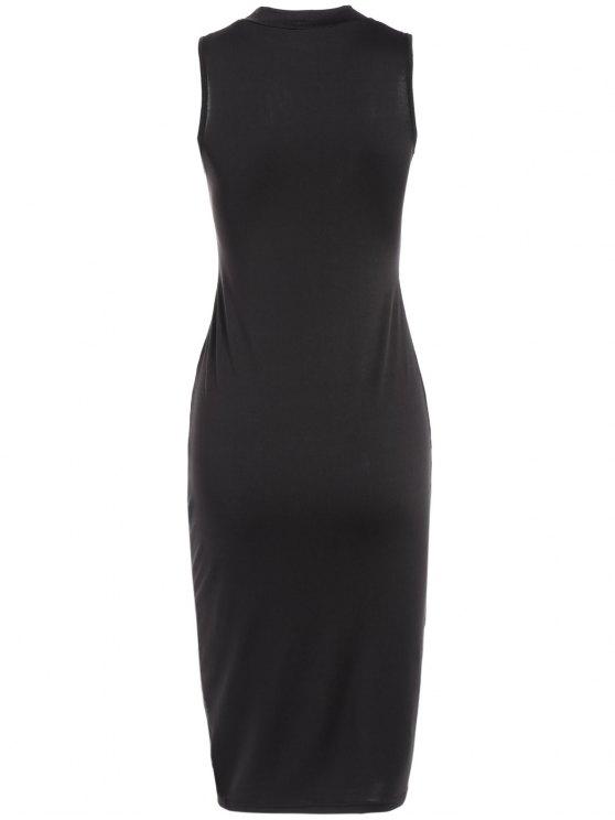 Christmas Santa Clause Midi Bodycon Dress - BLACK XL Mobile