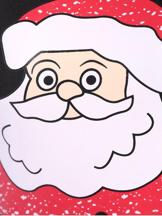 Christmas Santa Clause Midi Bodycon Dress - BLACK L Mobile