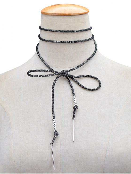 Artificial Leather Rope Bows Choker -   Mobile