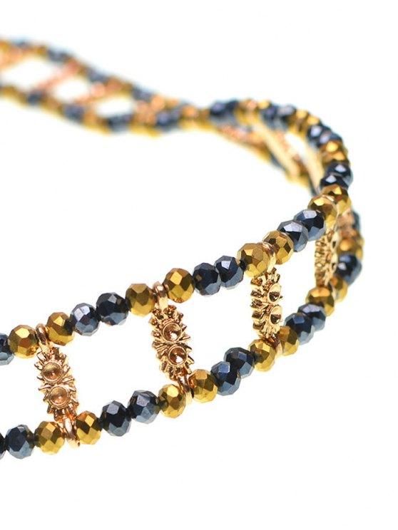 Vintage Beaded Rhinestone Necklace -   Mobile